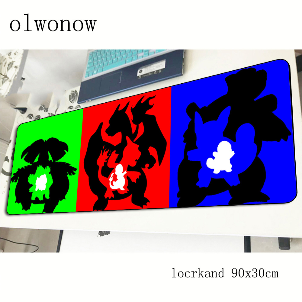 pokemons mousepad 900x300x2mm New arrival gaming mouse pad gamer mat thick game computer desk padmouse keyboard large play mats 2
