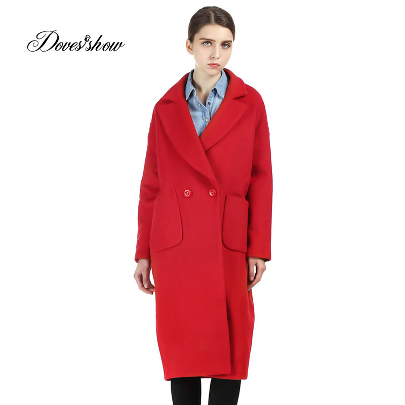 Online Buy Wholesale red cashmere coat from China red cashmere ...