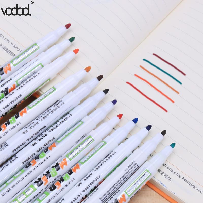 Vodool 12 Colors Erasable Whiteboard Permanent Marker Pens