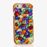 Luxury Women Handmade 3D Colorful Diamond Rhinestone Phone Cover Case For IPhone 4 4S 5 5S