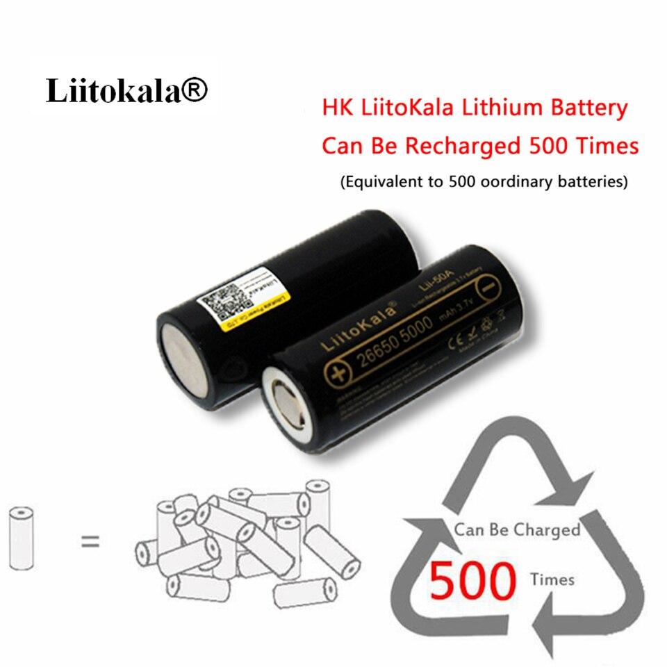 Baterias Recarregáveis recarregáveis para lanterna/microfone Modelo Número : INR 26650-50a