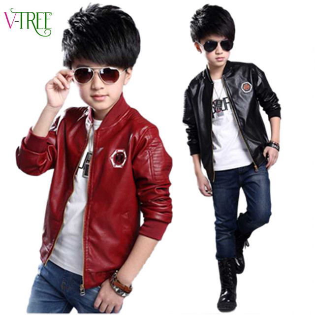 340d01ec4 Hot spring teen boys jacket clothing school boys faux leather jacket ...