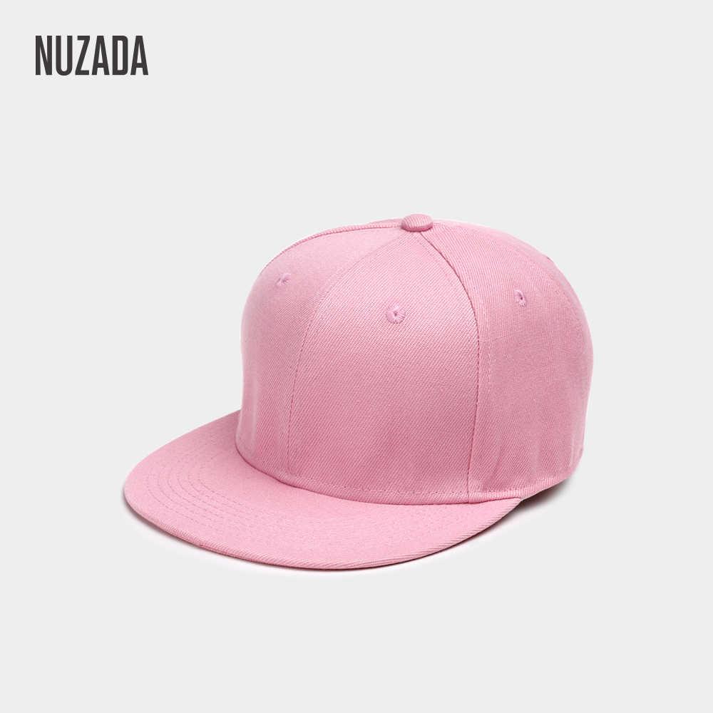 Merk NUZADA Polyester Katoen Mannen Vrouwen Neutraal Paar Hip Hop Cap Lente Zomer Herfst Eenvoudige Klassieke 7 Kleuren Caps