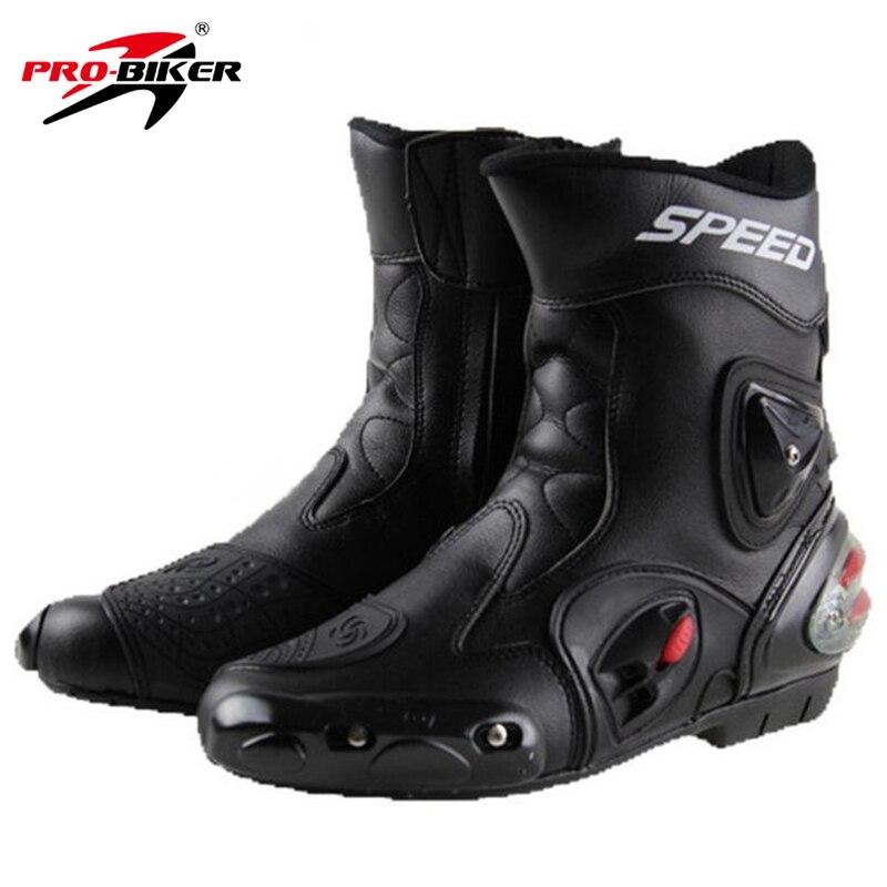 Pro-байкер СКОРОСТЬ Байкеры мотоботы износостойкие из микрофибры Racing Мотокросс Мотоцикл для верховой езды Высокие сапоги Обувь