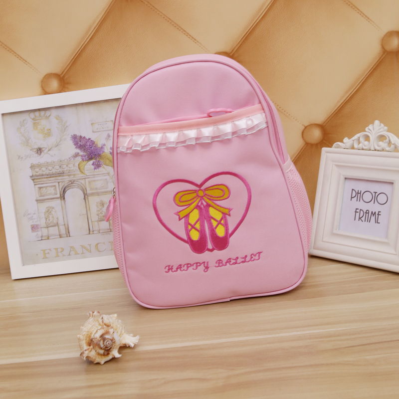 Cute Kids Pink Lace Ballet Dance Bag Children Dance Bags For Ballet Cute Backpack Ballet Bags Girls Dancing Bag Ballerina Bags