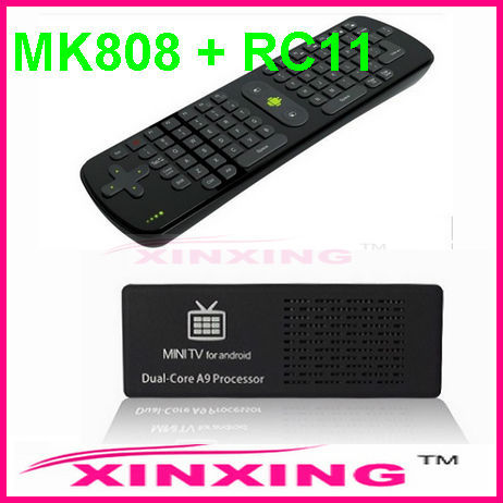 MK808 Mini PC Aanroid TV dual core A9 Dual Core RK3066 mk 808 IPTV Google Internet TV box Mini PC mk808 RAM:1GB ROM:8GB