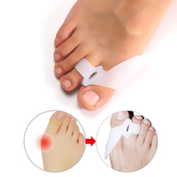 1pair Foot Health Gel Bunion Protector Toe Straightener Spreader Correctors Hallux Valgus Foot Care Bunion Toe Separator Gel Toe Skin Care