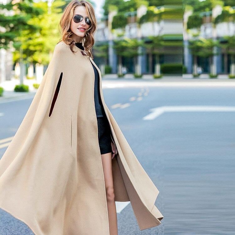Et Femmes Automne Long Européen Mélanges Cachemire Américain Laine En Survêtement Hivers De Femelle Manteau 2018 Double Camel face q0BdE0