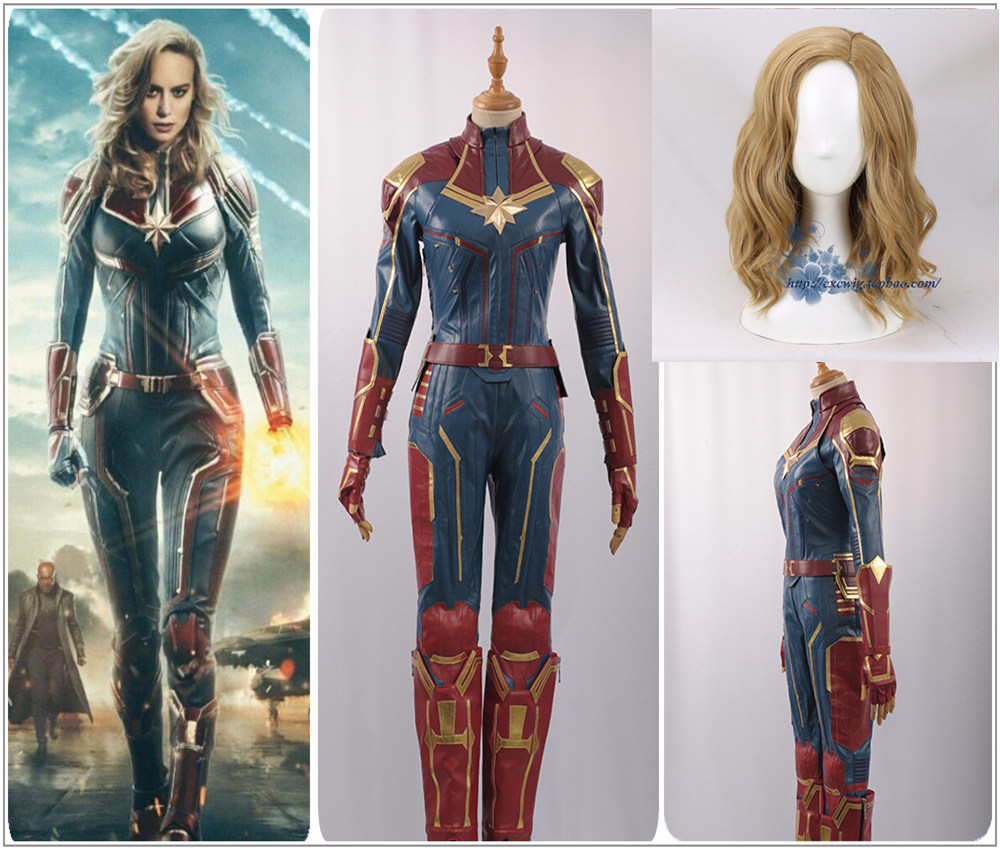Superhero Captain Marvel Ms Marvel Super Heroes Cosplay Costume Two Piece Top Pants Faux Leather Costume Wig Halloween Carnival Aliexpress Carol danvers returns to her home planet of earth to aid the avengers on their latest mission. superhero captain marvel ms marvel