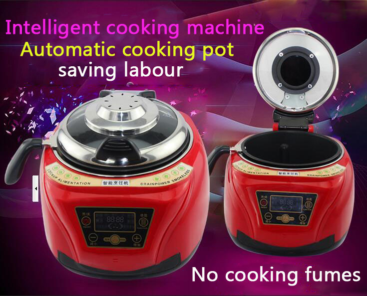 Household All Intelligent Food Cooking Machine Automatic Meat Vegetables cooking pot Multi cooker Frying Pan automatic cooking robot automatic cooking pot intelligent electric frying pan