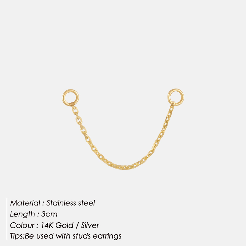 E-Manco Fashion DIY Chain Jewerly Making Stainless Steel Earring Findings Jewelry Findings Jewlery Making