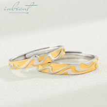 inbeaut Silver Endless Seawater Couple Rings Women Men s925 Gold-color Ocean Forever Love Wedding for Lovers Gift Jewelry