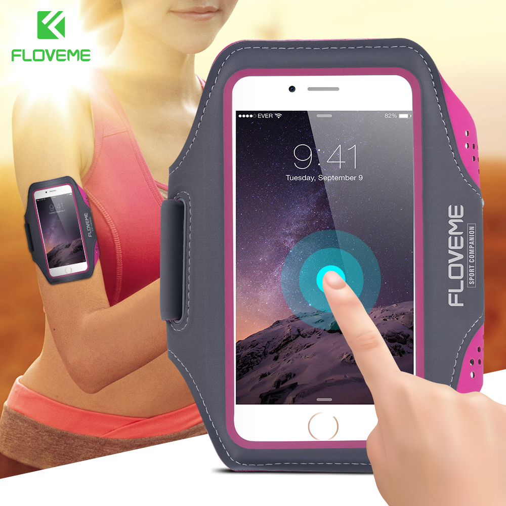 FLOVEME Waterproof Sport Arm Band Case For Samsung Galaxy S9 S8 Plus S7 S6 Edge S5 A3 A5 2017 Clear Touch Cover Running Gym Bag  1