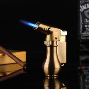 Image 2 - NIEUWE Draagbare Spuitpistool Compact Butaan Jet Aansteker Torch Turbo Aansteker Fire Winddicht Metalen JET Aansteker 1300 C GEEN GAS