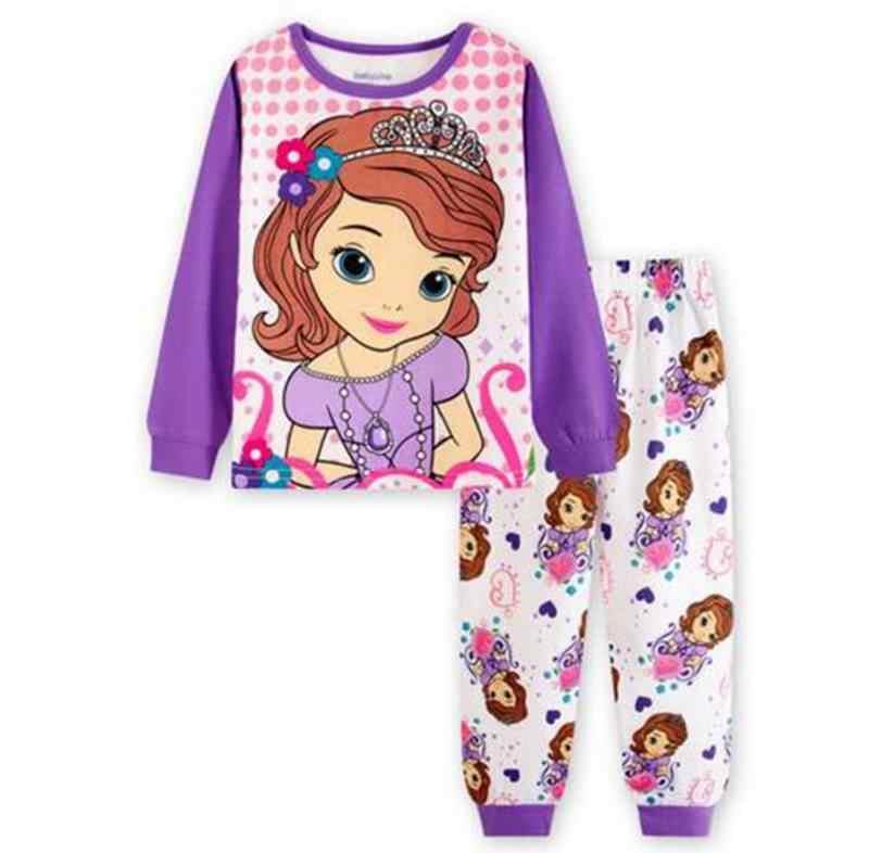 Spring Autumn long sleeved Kids Pajamas Sets boys pattern night suit Children cartoon Sleepwear Girls Kids T-Shirt + Pants Sets
