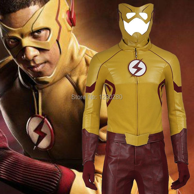 The Flash Season 3 Kid Flash Costume Cosplay Wally West Adult Men Outfit Superhero Halloween Cosplay Costume Custom Made