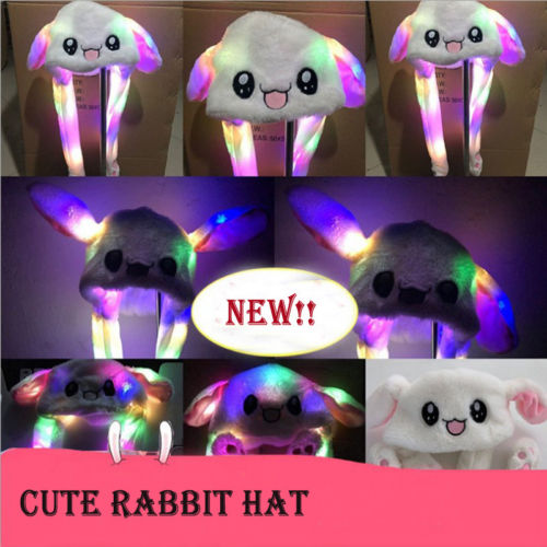 New Women's Girls Pretty Hat Rabbit Bunny Ears Will Move The Rabbit Hat Cute Gift