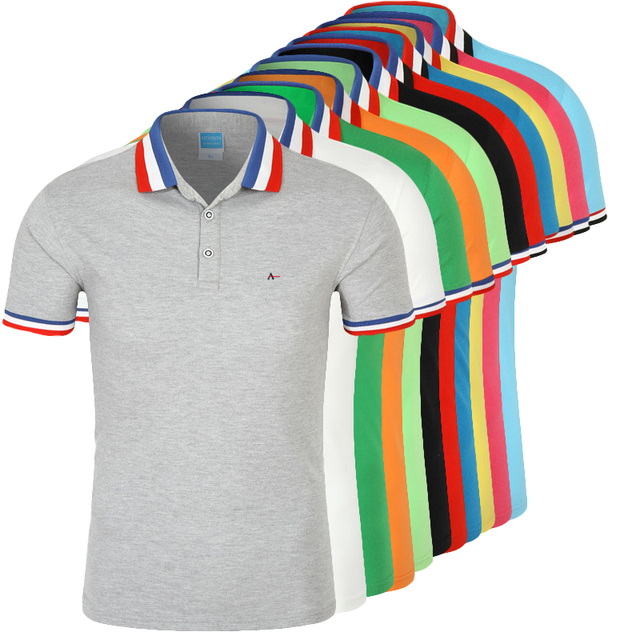 DUDALINA Camisa Polo de Algodão Dos Homens Camisa Polo Masculina De Marca  Sergio k Negócio Casuais 69917fab6debf