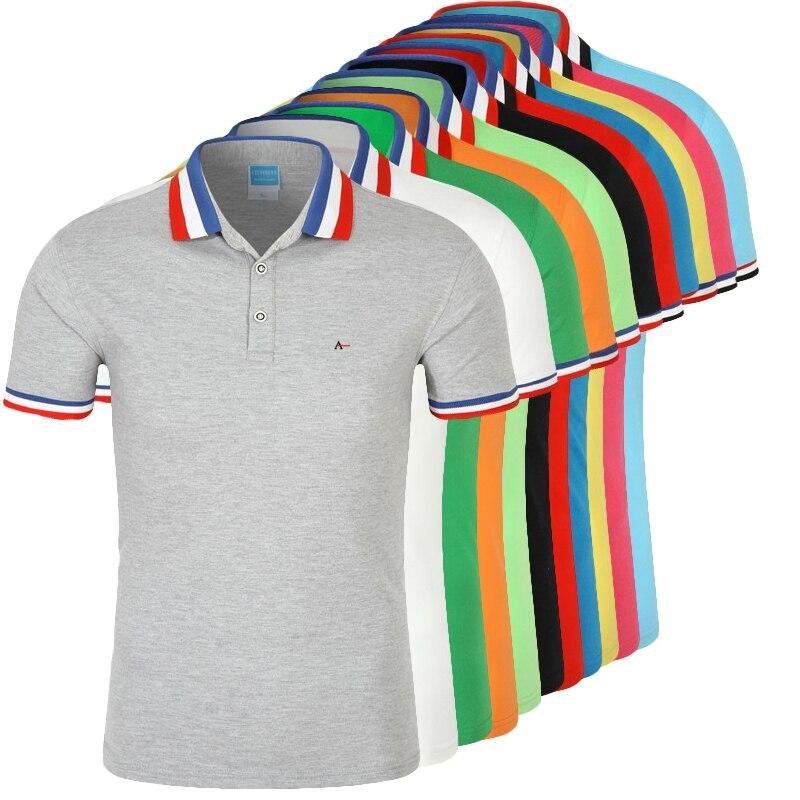 DUDALINA Polo hombres Camisa Polos Masculina De Marca Sergio k algodón Casual De negocios De manga corta blanco polo negro