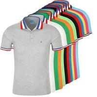 DUDALINA Polo Shirt Hommes Camisa Polos Masculina De Marca Sergio k de Coton Hommes Casual Affaires À Manches Courtes Blanc noir Polo