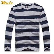 Cotton T-shirts Men Long Sleeve Mens TShirt Spring Autumn Brand Striped Male T shrits Dress Global Shopping Festival Drop-Ship