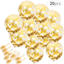 цены 20pcs 12inch Gold Confetti Balloon Clear Latex Balloons Baby Shower Happy Birthday Wedding Decoration Balloons Party Supplies