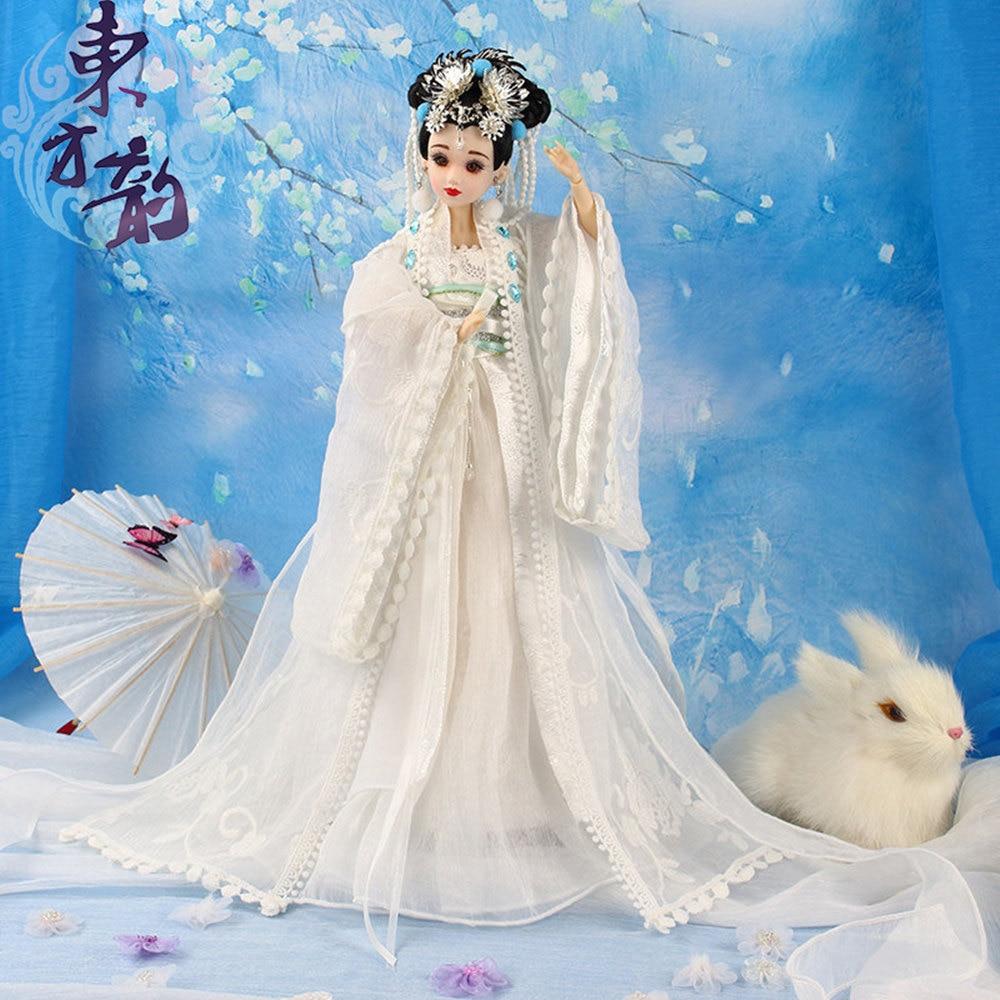 все цены на Fortune Days East Charm ancient costume doll 1/6 like BJD Blyth dolls Chang'e 35cm with makeup 14 Joint body High Quality gift онлайн