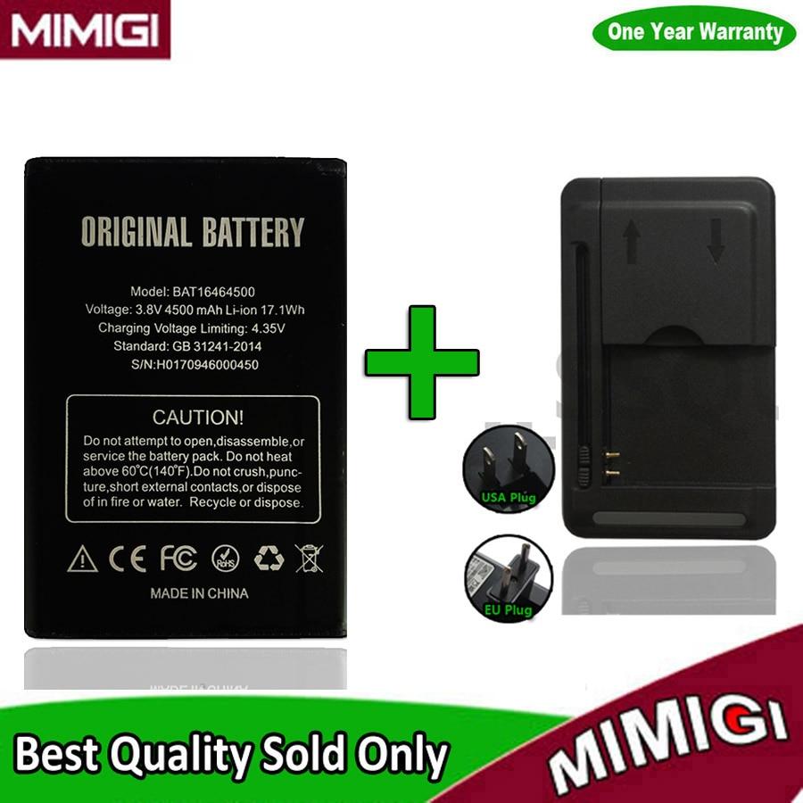 Réel Grande Capacité BAT16464500 4500 mAh Batterie De Secours Pour DOOGEE T5 Lite Smart Téléphone Batteria AKKU ACCU + 1 PC chargeur