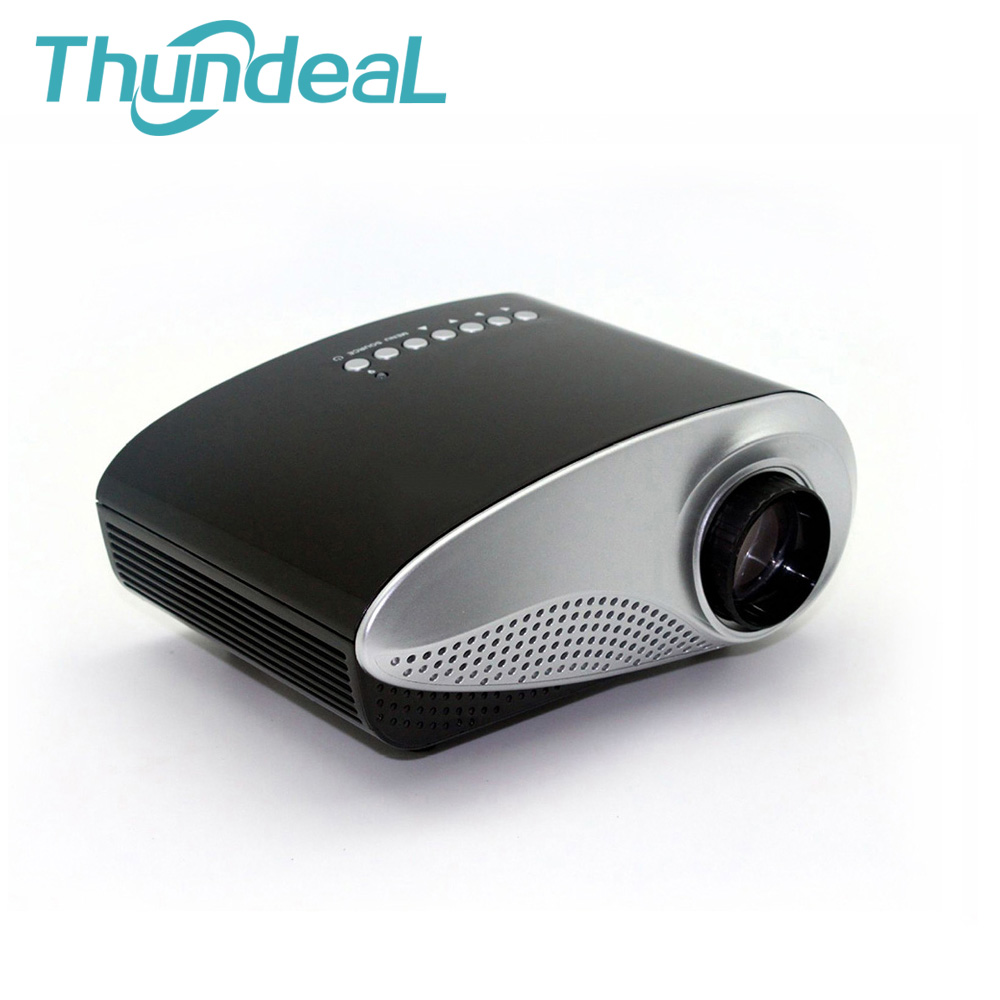 Free tripod 3d glasses 200lumens 3d mini projector led for Miniature projector