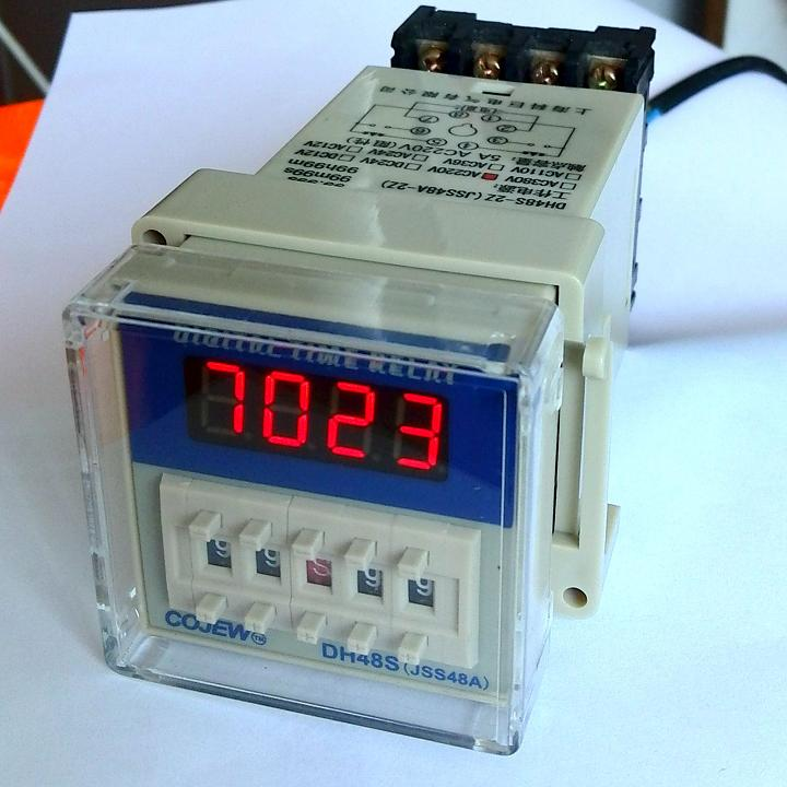DH48S-S2Z LCD Display Time Timer Delay Relay 8-Pin DPDT 0.1S-99H AC/DC24V