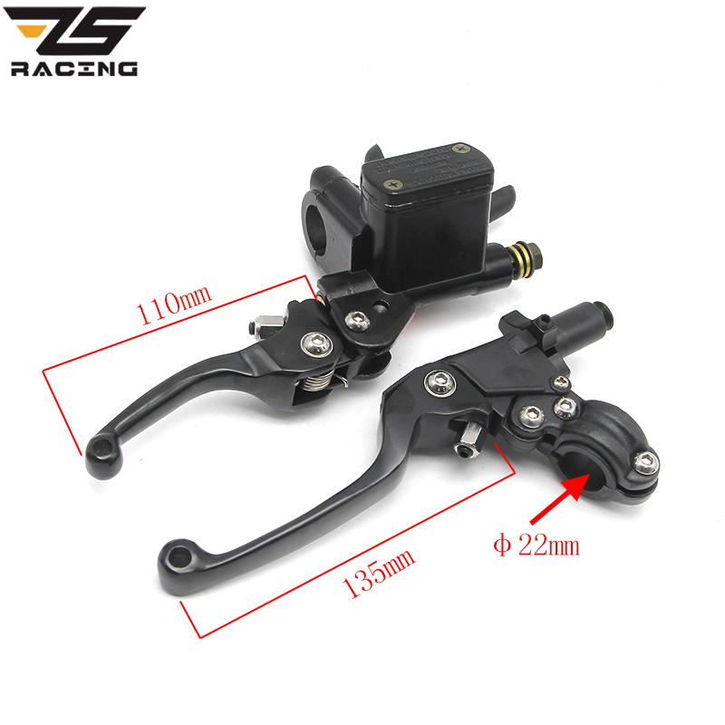 ZS-Racing CNC Folding Brake Lever ASV Clutch Lever With Front Pump Fit Motorcycle Dirt Bike Motocross CRF KLX YZF RMZ Refit Part asv clutch and brake folding aluminum lever for dirt bike pit bike spare parts