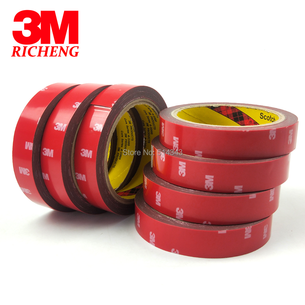 3M 4229P Pressure Sensitive Adhesive Double Sided Foam Tape For Auto Parts And Car Accessories, 0.8MM Thick, 20MM x 3M,1Pcs/Lot 3m double side adhesive tape for auto 3000cm x 0 8cm