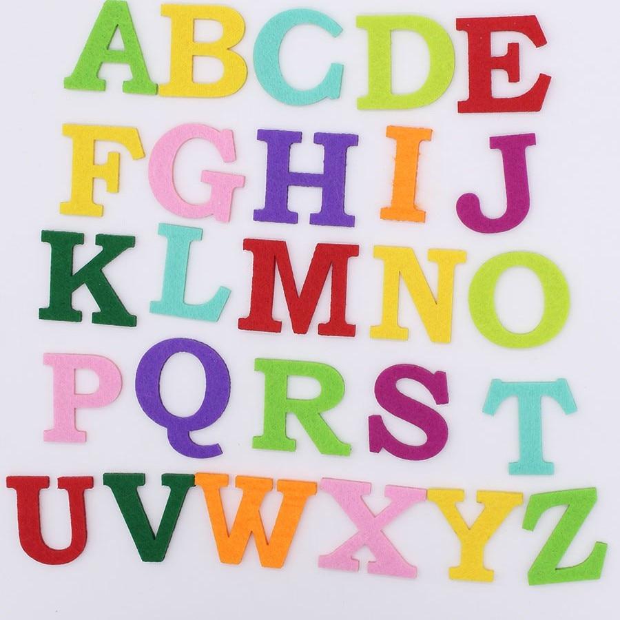 260 PCS Mixed Color Letter Alphabet Felt Patches