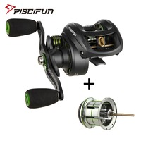 Piscifun Phantom Baitcasting reel + Shallow Spool 7.0:1 Gear Ratio 7.7kg Max Drag 7 Bearings 162g Carbon Fiber Fishing Reel
