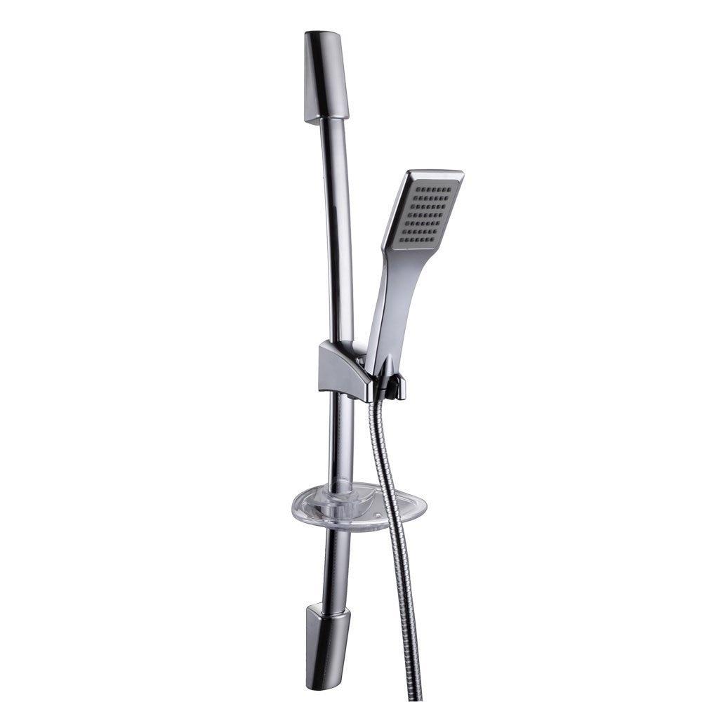 kes f221 kp117 single function hand shower head with slide bar adjustable polished chrome in. Black Bedroom Furniture Sets. Home Design Ideas
