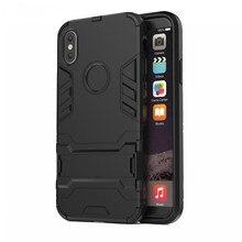Armatura di lusso cassa attrezzata per il iphone XS MAX XR 6 7 8 più Anti Caduta Bordo Morbido Antiurto con regalo libero di Cavo di Ricarica