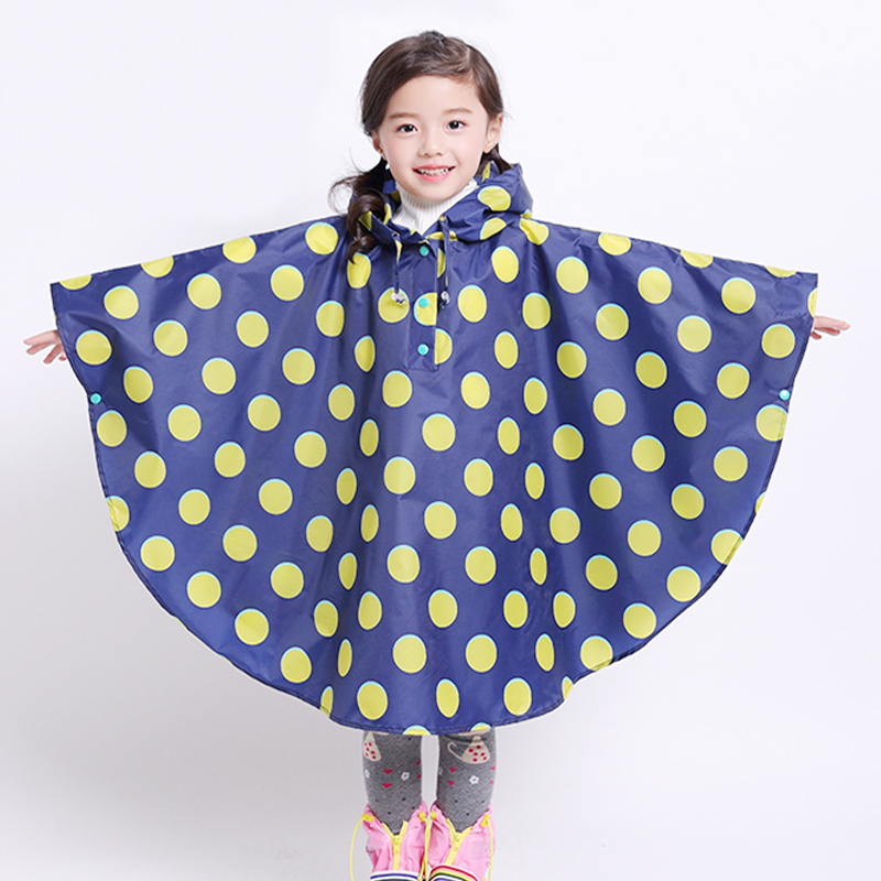 Yuding 80-145cm Children Raincoat Kids Girls Impermeable Rain Coat Poncho Polka Dot Kindergarten boys Baby RAINCOAT FOR CHILDREN