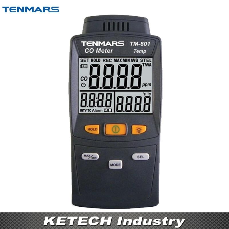 LED Backlight Carbon Monoxide Tester CO Detector 0 ~ 1,000ppm TM801