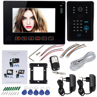 Free Shipping HD 9 LCD Door Monitor Video Intercom Home Door Phone Supported Password ID Remote