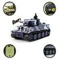 2016 Nuevo Mini 1: 72 49 MHz R/C Radio Control Remoto Tiger Tank 20 M Kids Toy regalo Aug9