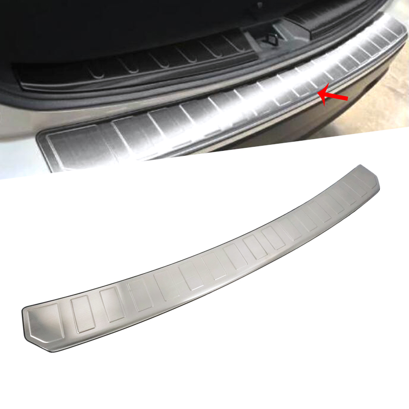For SUBARU Forester 2019 Stainless Steel 1PC Car Trunk Outer Rear Tail font b Box b