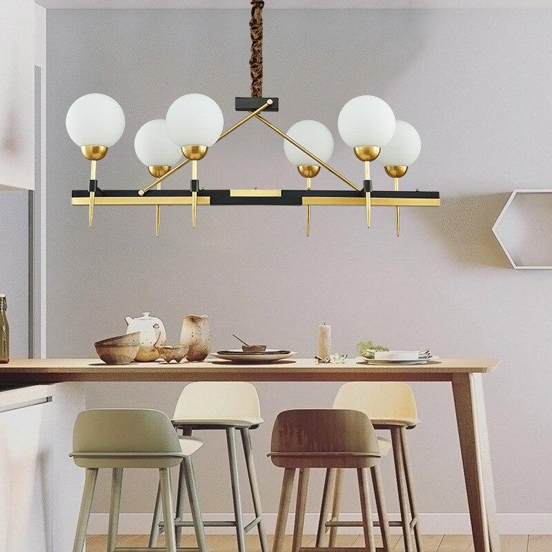 Postmoderna LED de lujo cobre lámpara iluminación habitación ...