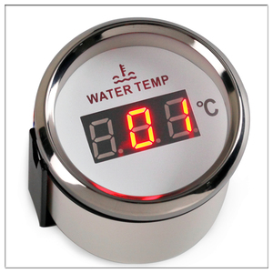 Image 4 - Digital Temperature Gauge For Car Thermometer 52 MM round mini Water temp Meter Indicator Car Boat With Back light turbo boost