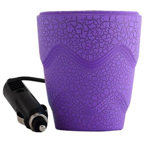 Luminous 2 USB Port Splitter Cigarette Lighter Socket Adapter Car Charger Cup Holder Purple