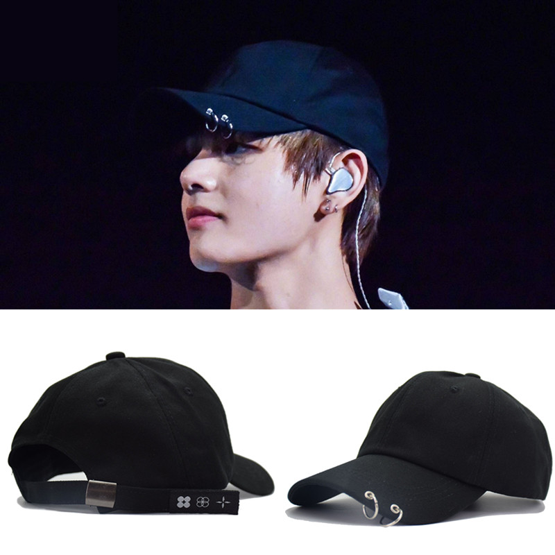 Cotton Men Women Hats 2018 BTS LIVE THE WINGS TOUR Fashion K POP Snapback Iron Ring Hats Adjustable Baseball cap  Hot Sell hot sell winter warm knitted cap camouflage cotton fashion skullies thicken skullies beanies hats for women 2 style 8409