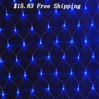 3Mx2M 204Led 220V White Large Led Net Lights Outdoor Waterproof Fishing Net Christmas Wedding Holiday Decoration
