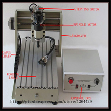 mini cnc milling machine 3020 T-D200 engraving machine, CNC router/ cutter made in china 200W Spindle