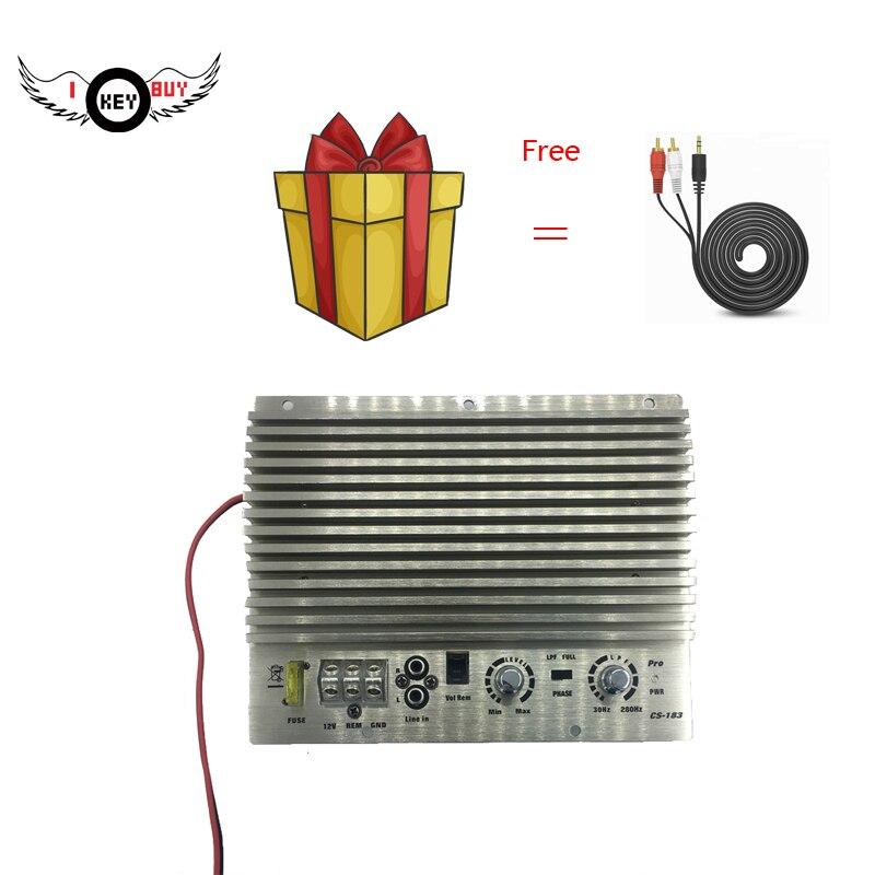 Tengo llave comprar HiFi-Super-potencia 1000 W 12 V amplificador de coche bajo Subwoofer de Auto amplificadores de plata