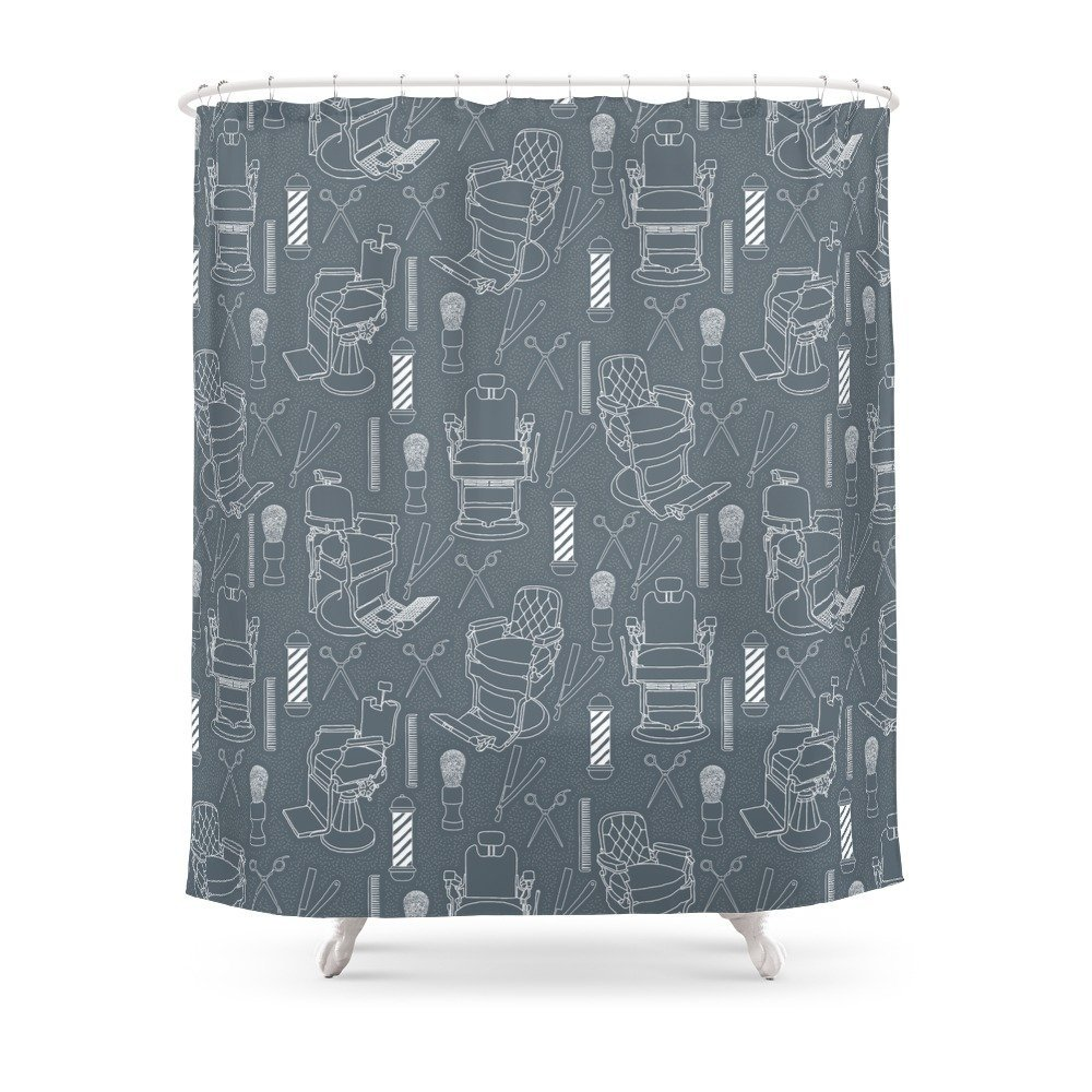 Barber Shower Curtain Customized Size In