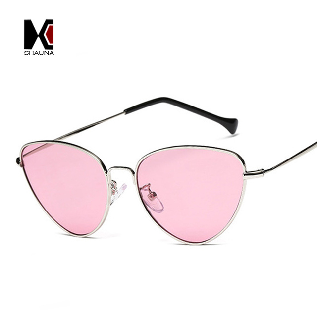 Light Weight Summer Styles Retro Women Cateye Sunglasses Fashion Men Yellow Tinted Lens Eyewear